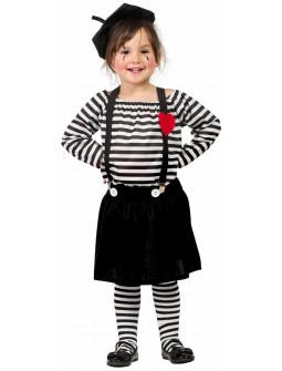Disfraz de Mimo para Niña