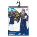 Disfraz de Noble de Corte Medieval Azul para Mujer