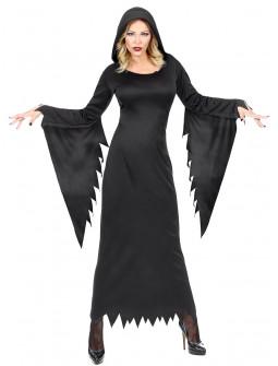 Disfraz de Hechicera con Túnica Negra para Mujer