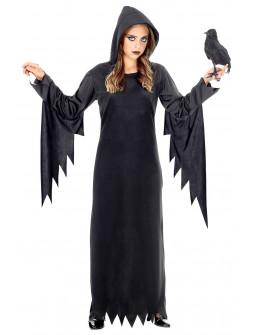 Disfraz de Hechicera con Túnica Negra para Niña