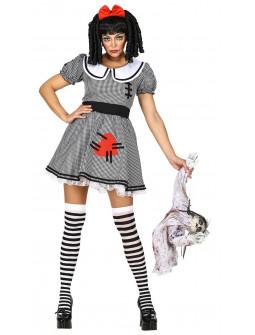 Disfraz de Muñeca de Trapo Siniestra para Mujer