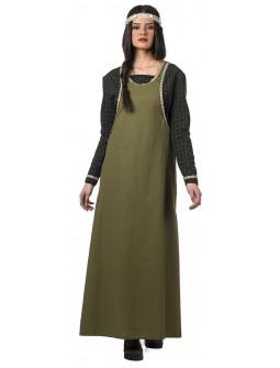 Disfraz de Dama Medieval Premium para Mujer