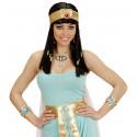 Anillo de Egipcia con Serpiente Dorada y Gemas