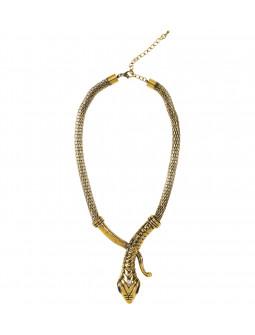 Collar de Egipcia con Forma de Serpiente Dorada