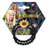 Pulsera Hippie de Perlas Negras y Girasol