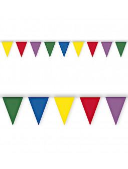 Guirnalda con Banderines de Colores para Exterior