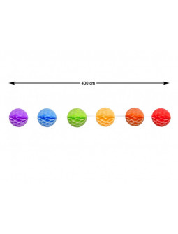 Guirnalda de Pompones de Papel de Colores