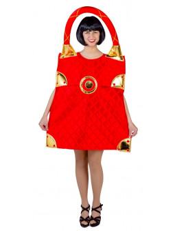 Disfraz de Bolso Rojo de Marca para Adulto