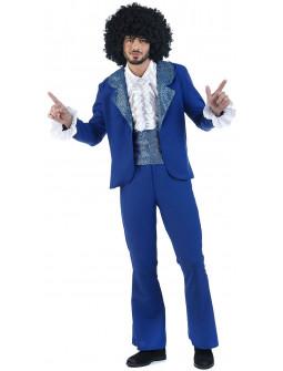 Disfraz Disco Azul Premium para Adulto