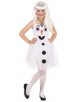 Disfraz de Muñeco de Nieve con Tutú para Niña