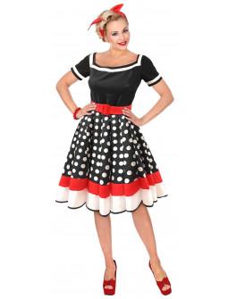 Disfraz de Chica Años 50 con Lunares para Mujer