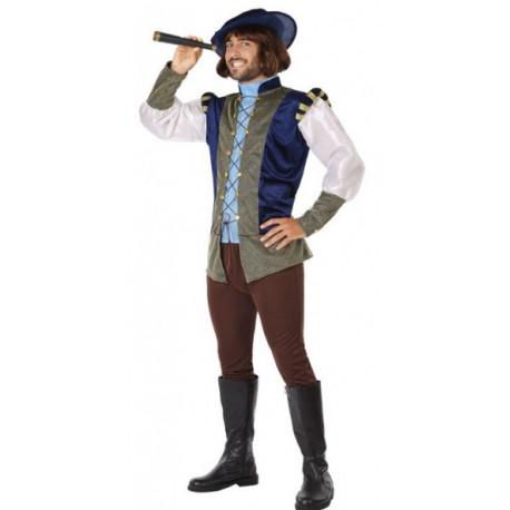 Disfraz de Navegante Cristóbal Colón para Hombre