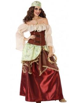 Disfraz de Gitana Medieval para Mujer