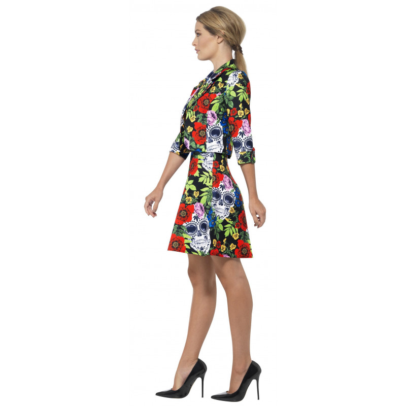 Vestido De Catrina Muerte Mexicana Para Mujer Comprar