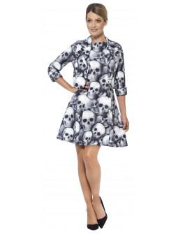 Vestido de Calaveras con Chaqueta para Mujer