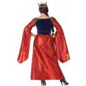 Disfraz de Reina Medieval Roja y Azul para Mujer