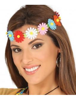 Cinta Hippie con Flores de Colores