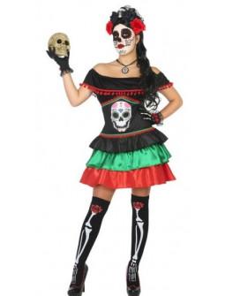 Disfraz de Catrina Calavera Mexicana para Mujer