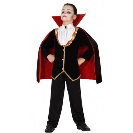 Disfraz de Vampiro Elegante con Capa para Niño