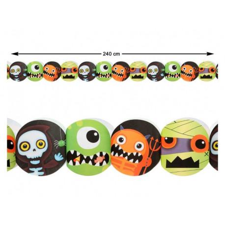 Guirnalda de Halloween Infantil con Monstruos