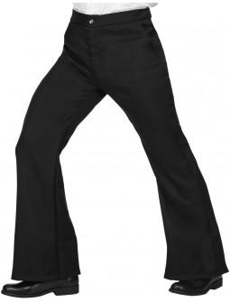 Pantalones de Campana Negros para Hombre