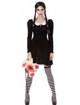 Disfraz de Miércoles Addams para Adulta