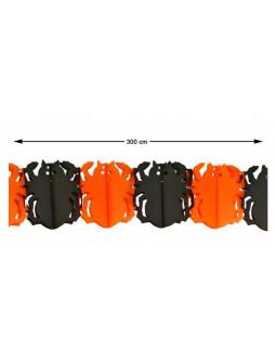 Guirnalda de Arañas Negras y Naranjas para Halloween