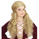 Peluca Medieval Rubia Larga para Niña