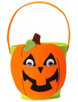 Cesta de Calabaza de Halloween Infantil