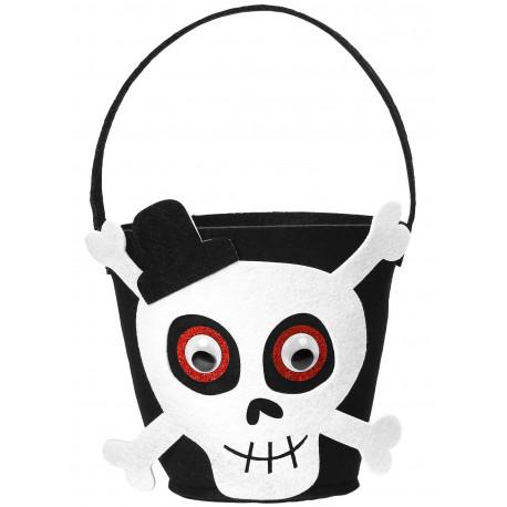 Cesta de Calavera de Halloween Infantil
