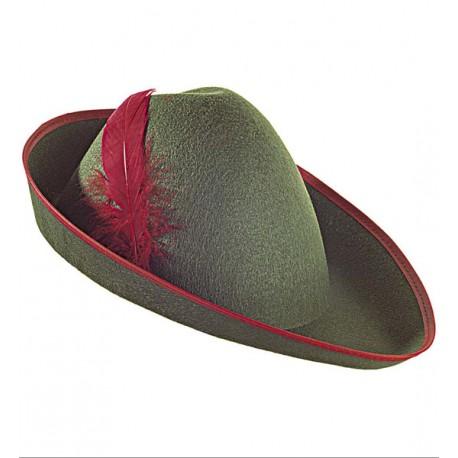Sombrero verde con pluma