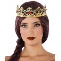 Corona de Reina Dorada Metálica con Pedrería