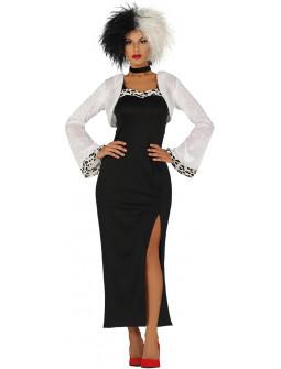Disfraz de Cruela de Vil con Chaqueta para Mujer