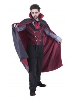 Disfraz de Conde Drácula con Capa para Hombre