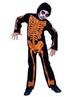 Disfraz de Esqueleto Naranja Infantil