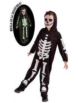 Disfraz de Esqueleto Fluorescente Infantil