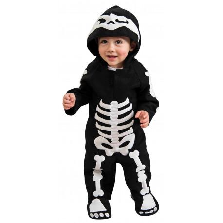Disfraz de Esqueleto con Capucha para Bebé