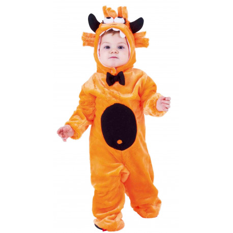 Disfraz de Monstruo de Peluche Naranja para Bebé
