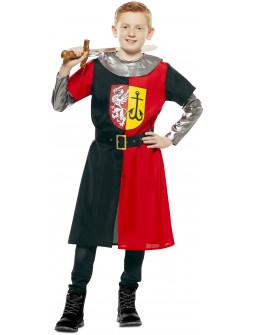Disfraz de Cruzado Medieval Rojo y Negro Infantil
