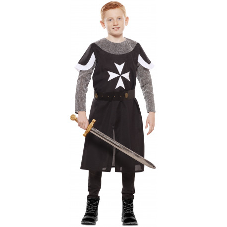 Disfraz de Cruzado Medieval Negro Infantil