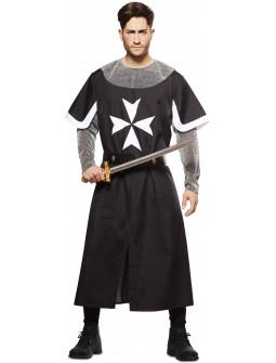 Disfraz de Cruzado Medieval Negro para Hombre