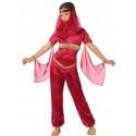Disfraz de Princesa Árabe Rojo para Niña