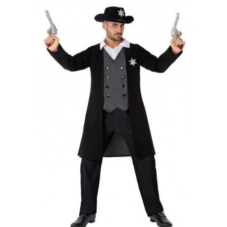 Disfraz de Sheriff Negro para Adulto