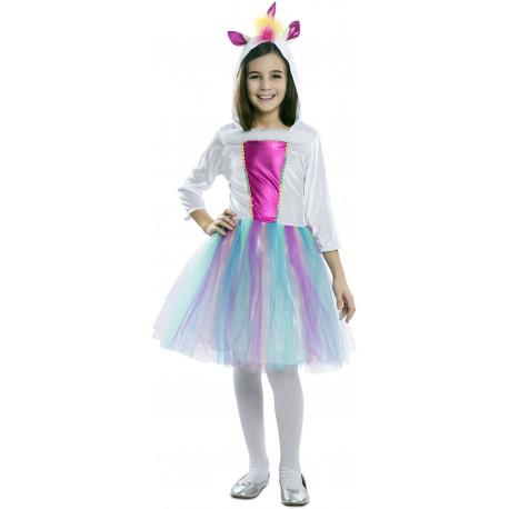 Disfraz de Unicornio con Capucha para Niña