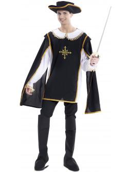 Disfraz de Mosquetero Negro para Hombre