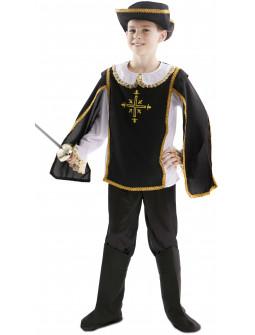 Disfraz de Mosquetero Negro para Niño