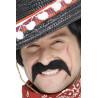 Bigote de Mexicano Negro con Adhesivo