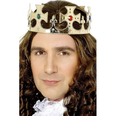 Corona Dorada de Rey con Pedrería