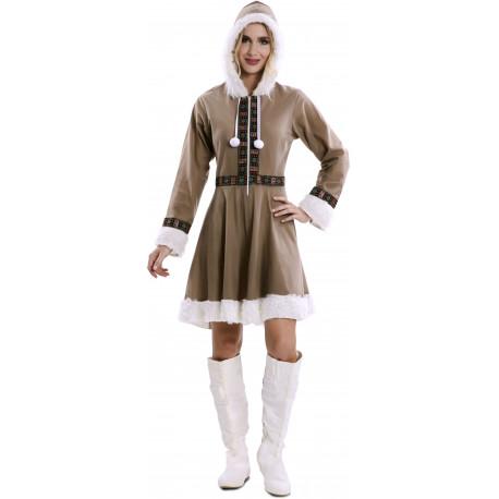 Disfraz de Esquimal Siberiano para Mujer