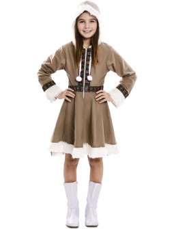 Disfraz de Esquimal Siberiano para Niña
